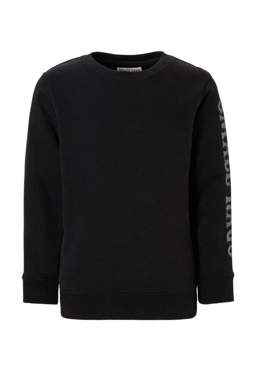 Small Rags sweater Huxi, zwart/ wit