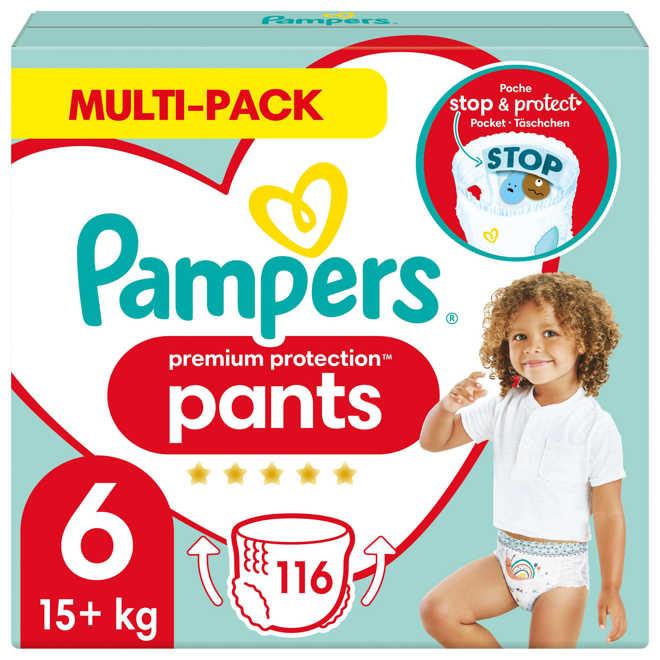 fb4245609d3 Premium Protection Pants maandbox maat 6 (15 kg+) 116 luierbroekjes