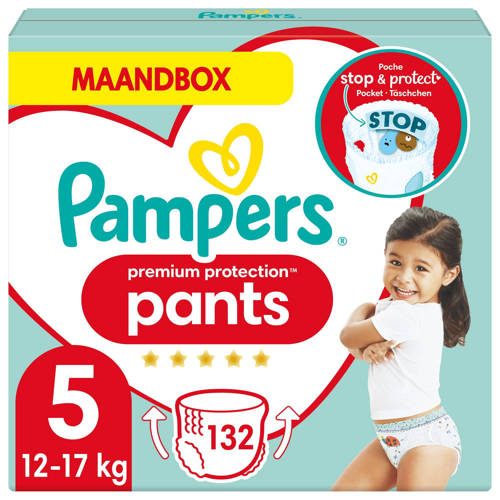 Pampers Premium Protection Pants maandbox maat 5 (12kg-17 kg) 132 luierbroekjes kopen