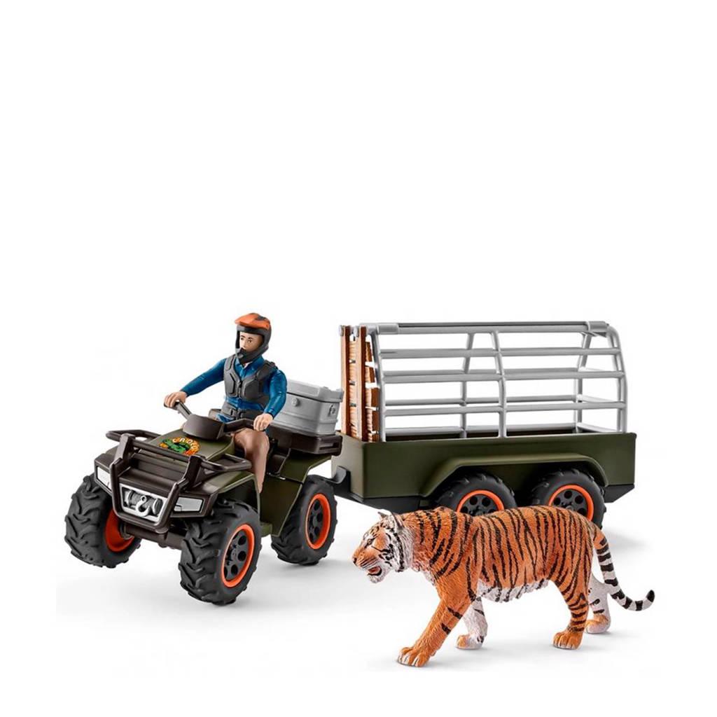 Schleich Wild Life quad met aanhangwagen en ranger 42351