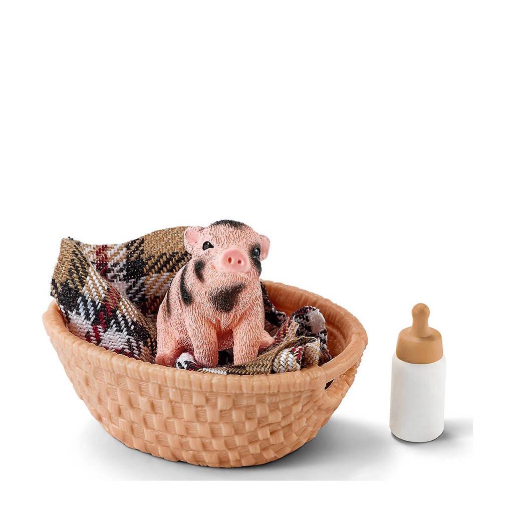 Farm World mini varkentje met papfles 42294