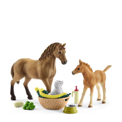Schleich Horse Club babydieren verzorgingsset 4243
