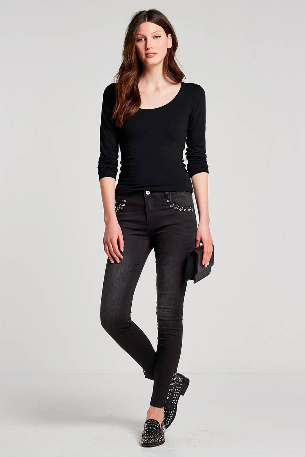 Modström Turbo basic T-shirt zwart, Zwart