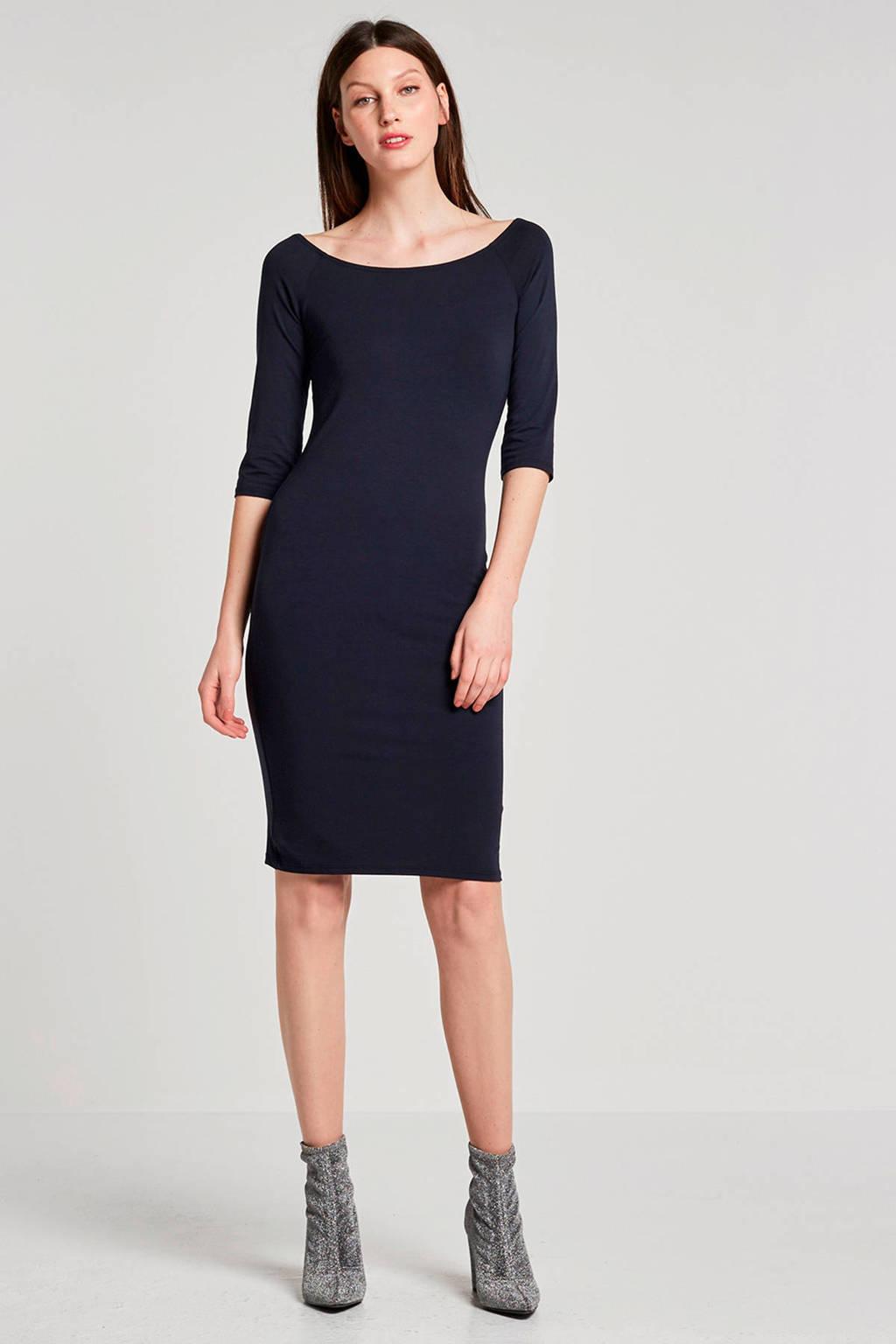 Modström jersey jurk donkerblauw, Donkerblauw