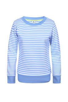 Eire gestreepte outdoor sweater lichtblauw