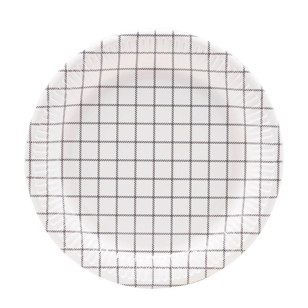 Nicolas Vahé papieren borden (set van 12), Wit/Kleur