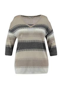 MS Mode gestreepte trui met open detail (dames)