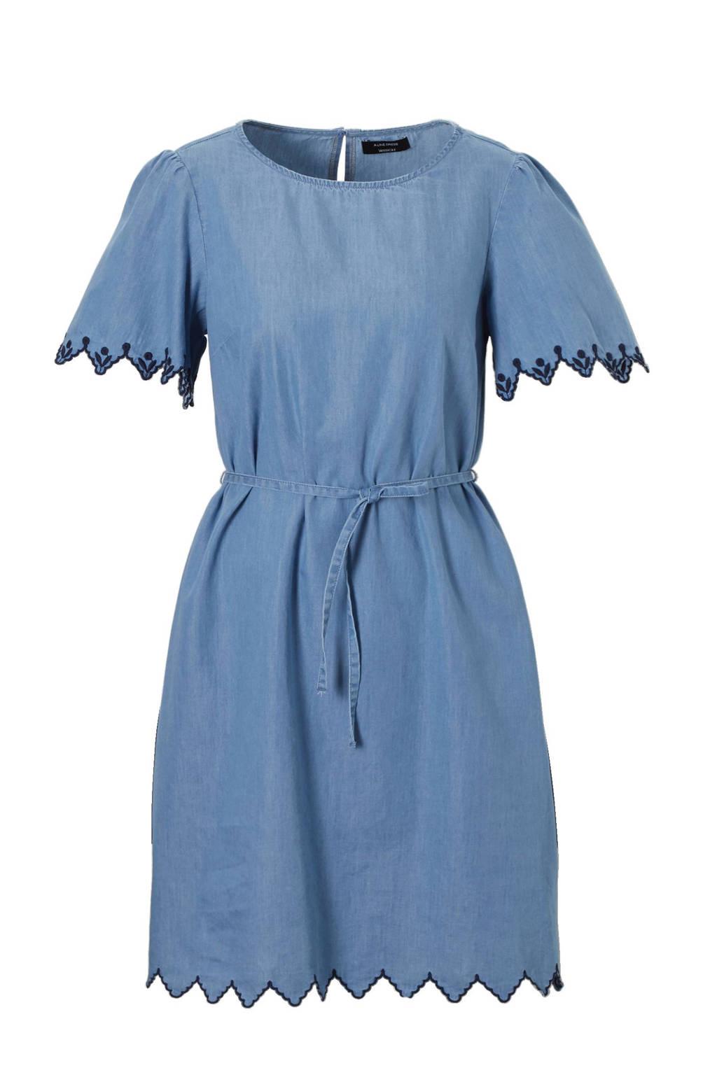 C&A Yessica jurk met borduursels lichtblauw, Lichtblauw