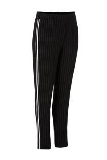 Geisha gestreepte sweatpants met zij-streep zwart (meisjes)