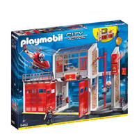 Playmobil City Action  grote brandweerkazerne met helicopter