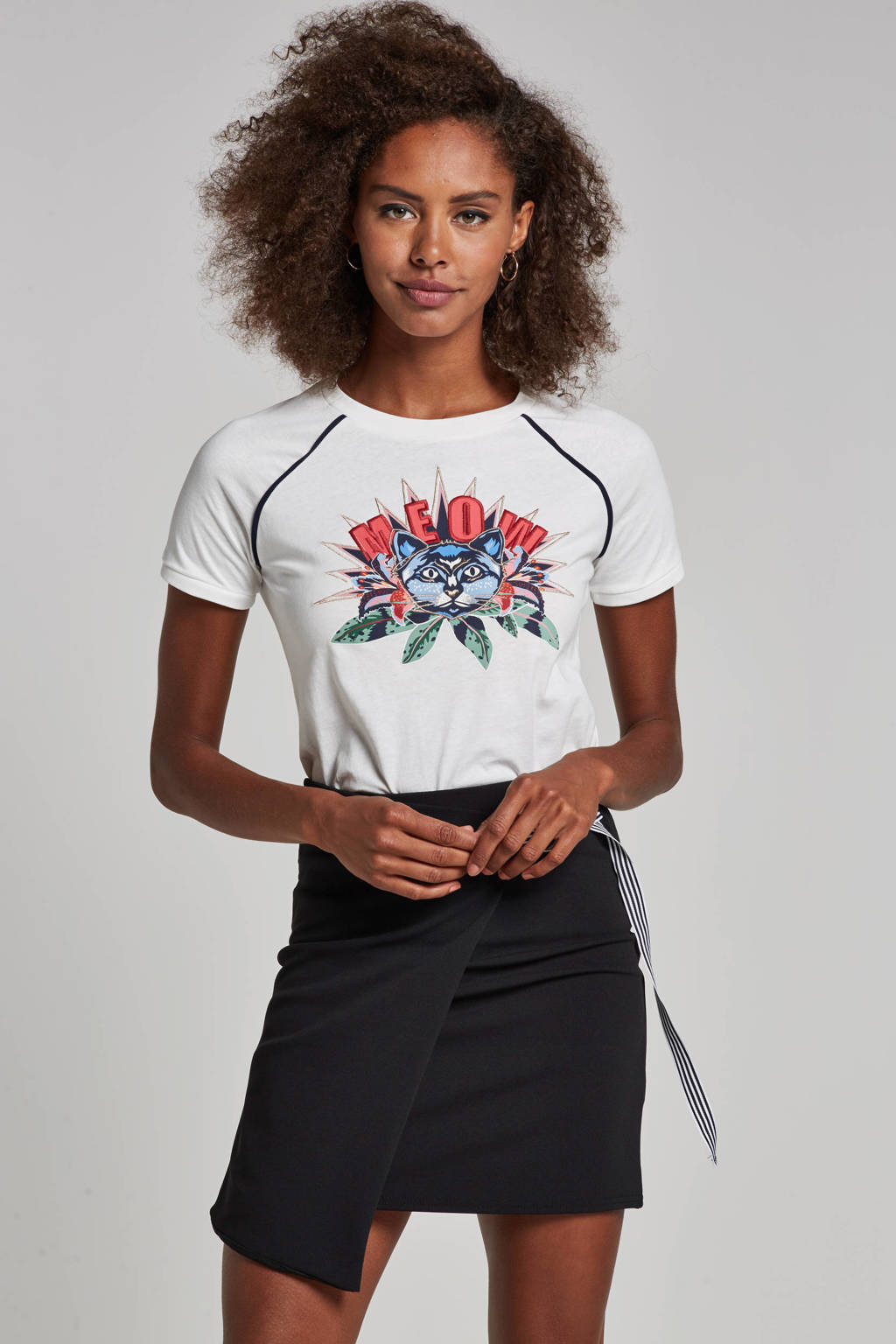 Tom Tailor T-shirt met print, Wit/blauw/rood/groen