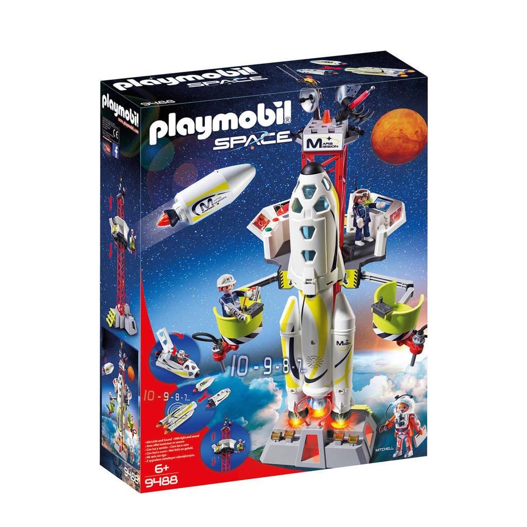 Playmobil Space Mars-raket met lanceerplatform 9488