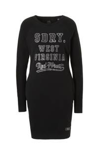 Superdry Tayler sweat jurk, Zwart