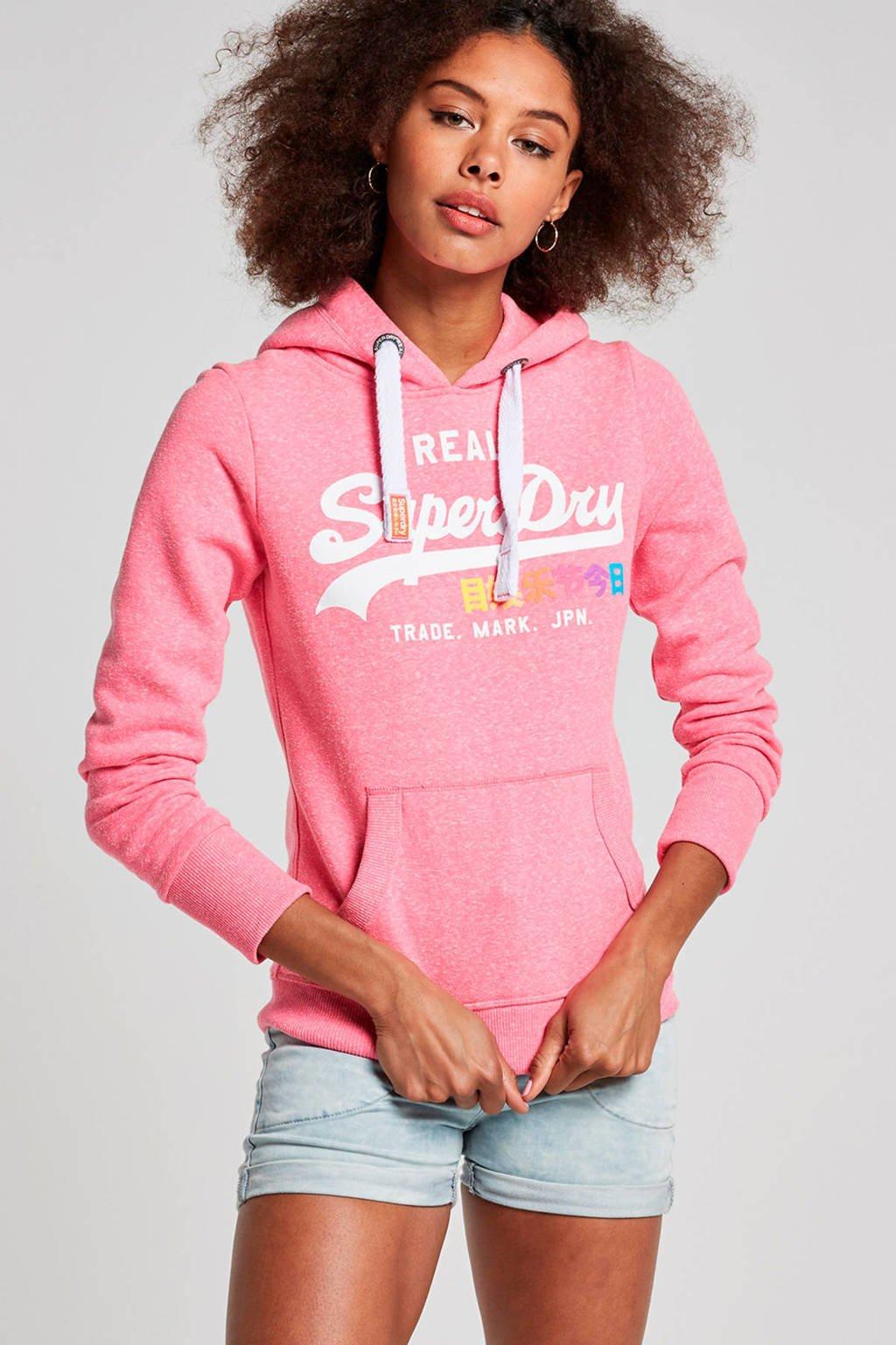 Superdry Vintage logo hoodie, Roze