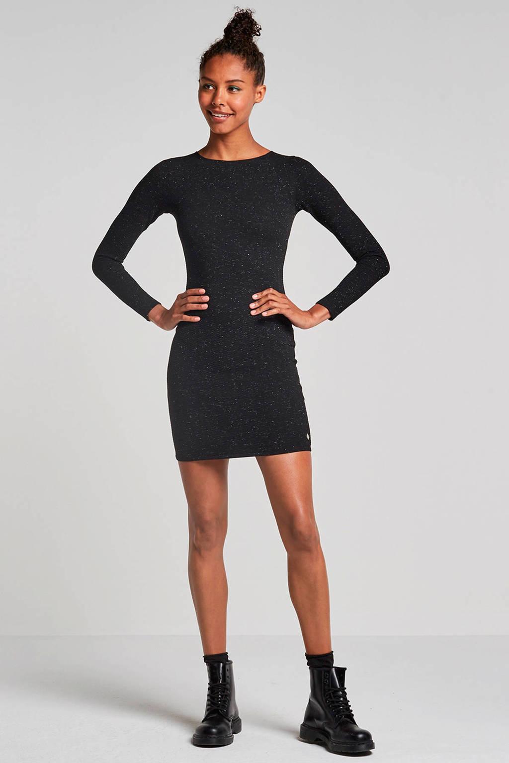 Superdry Bailey jurk met lurex, Zwart