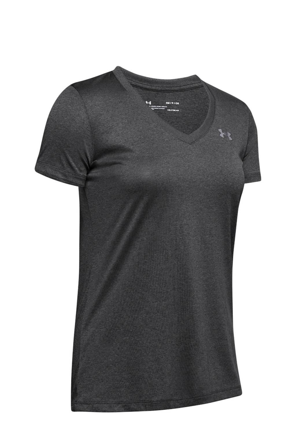 Under Armour sport T-shirt, Grijs melange/ grijs