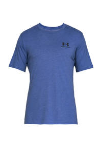 Under Armour   sport T-shirt, Blauw melange/ grijs