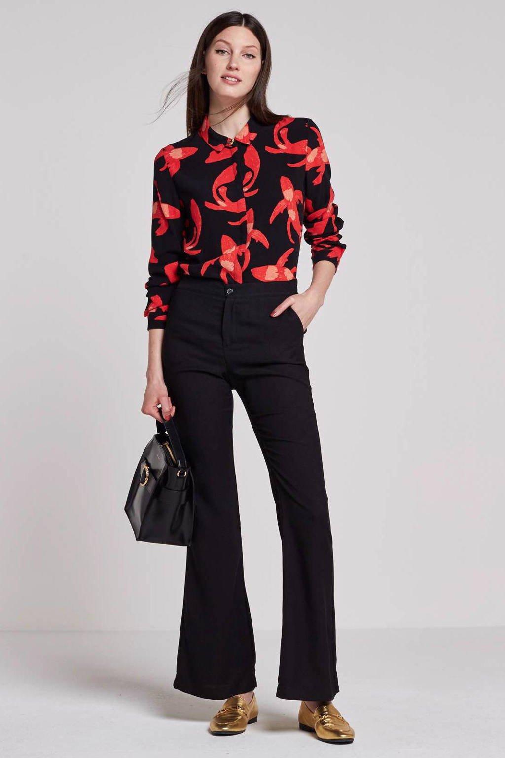 Fabienne Chapot Perfect blouse, Zwart/rood
