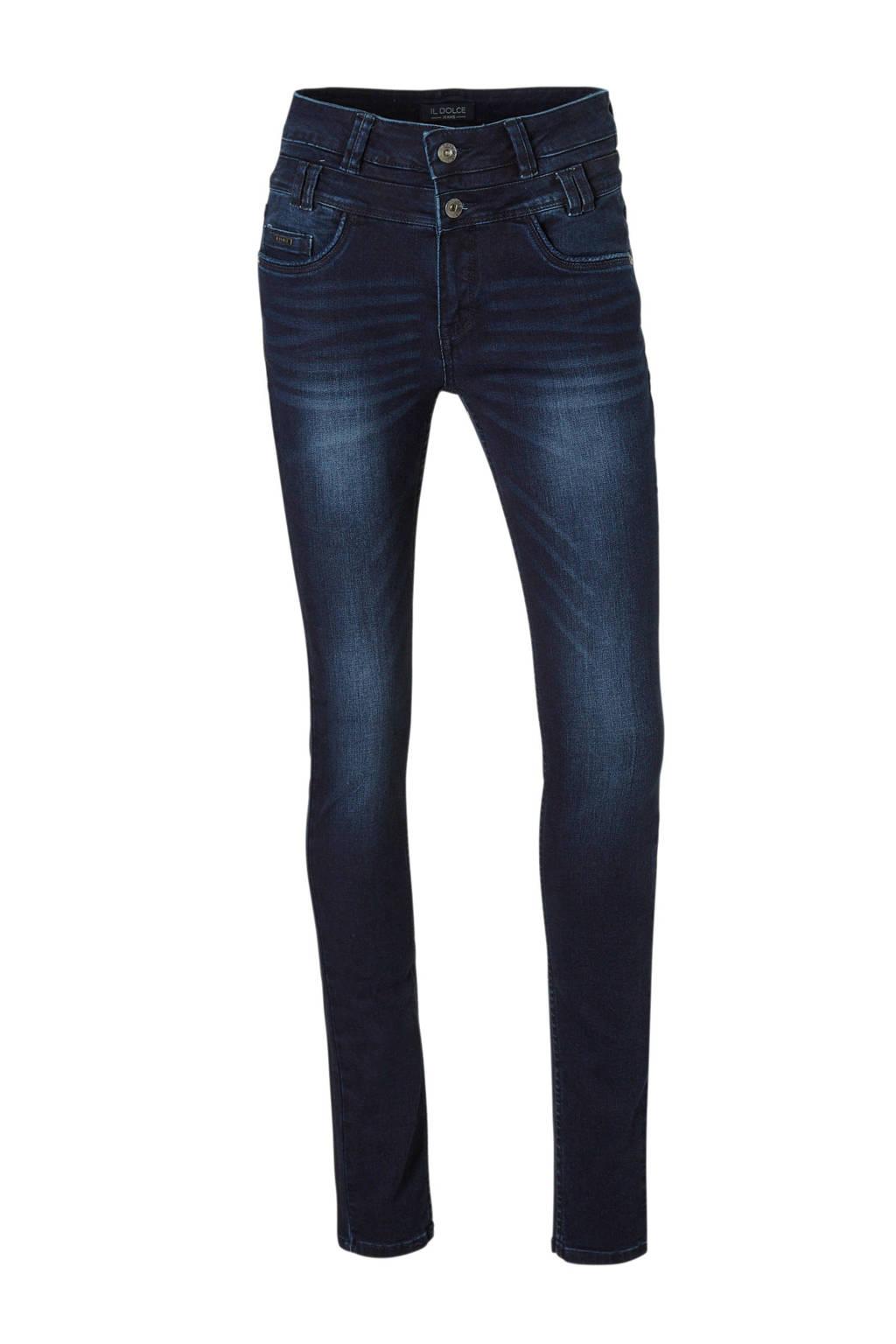 Il Dolce high waist slim fit jeans Ibiza, Blauw