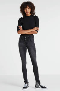 Il Dolce high waist slim fit jeans Ibiza, Grijs