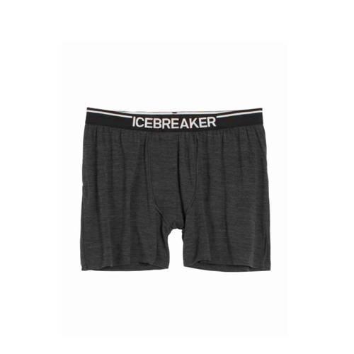 Icebreaker Anatomica gestreepte boxershort met merinowol zwart kopen