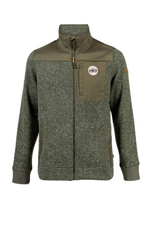 Jimmy fleece vest groen