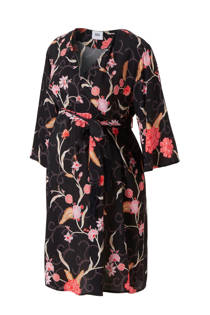 MAMA-LICIOUS positie overslag jurk met bloemenprint