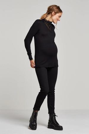 low waist slim fit zwangerschapsjeans MLLOLA zwart