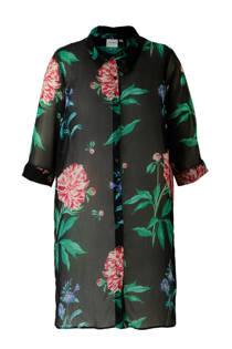 JUNAROSE semi-transparante tuniek met bloemenprint (dames)