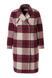 JUNAROSE coat met ruit dessin (dames)