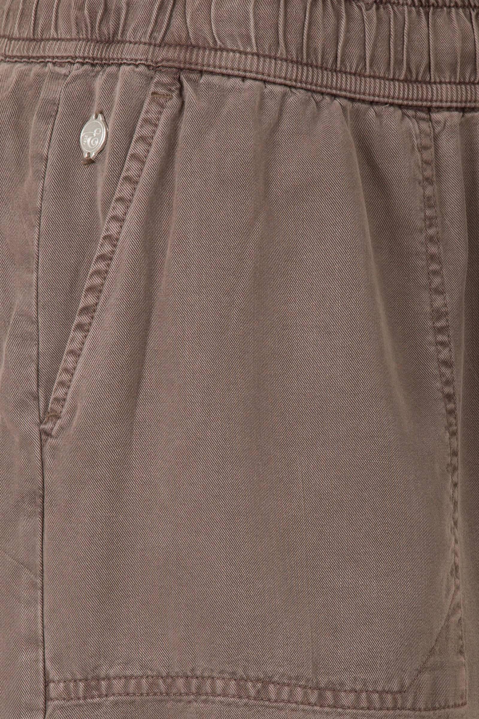 Miss Etam Regulier loose fit korte broek bruin | wehkamp