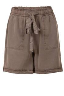 Miss Etam Regulier loose fit korte broek bruin (dames)