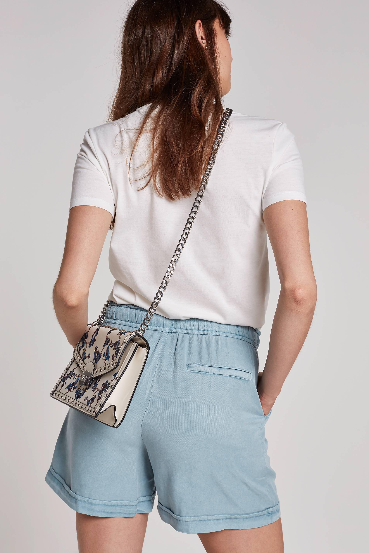 Miss Etam Regulier loose fit korte broek lichtblauw | wehkamp