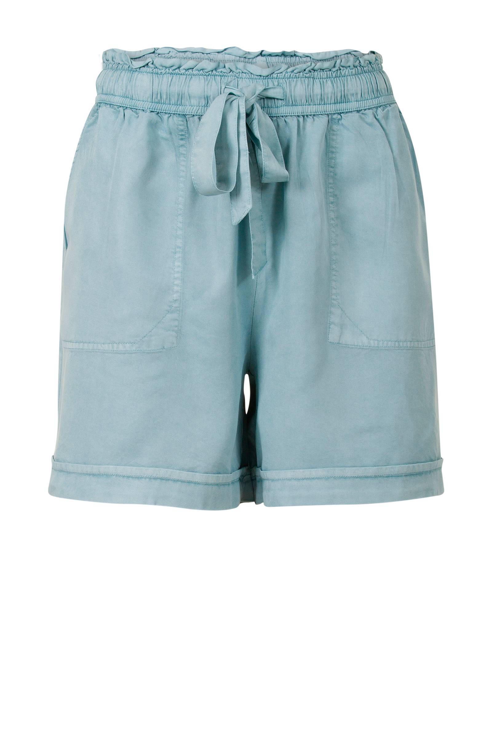 loose fit korte broek lichtblauw