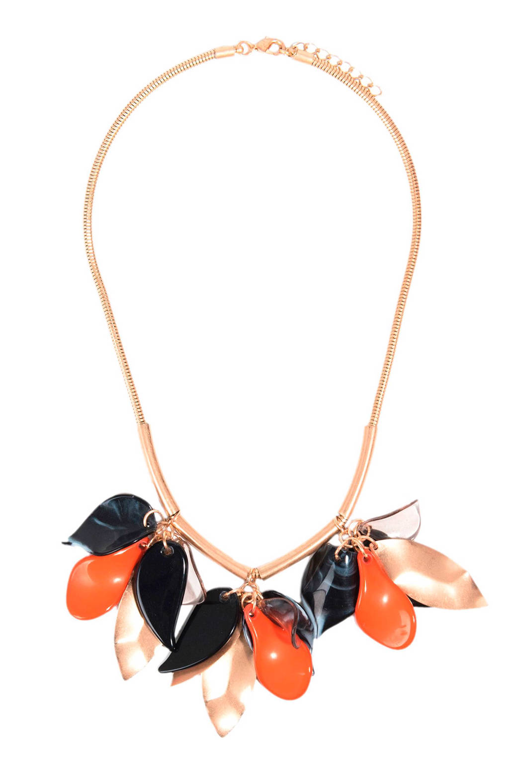 Parfois ketting, Rosé/oranje/zwart