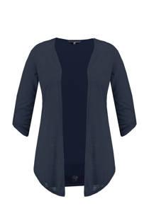 MS Mode openvallend vest marineblauw (dames)