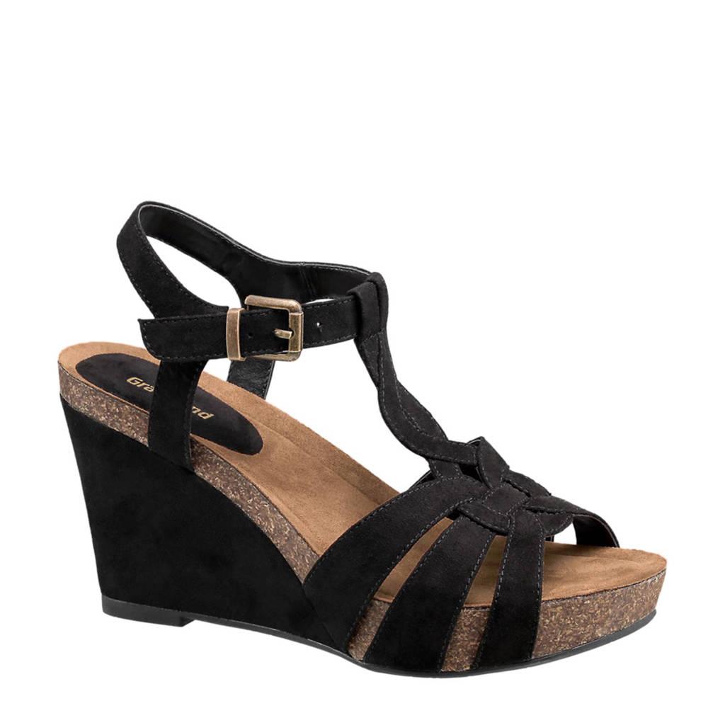 vanHaren Graceland sandalettes, Zwart