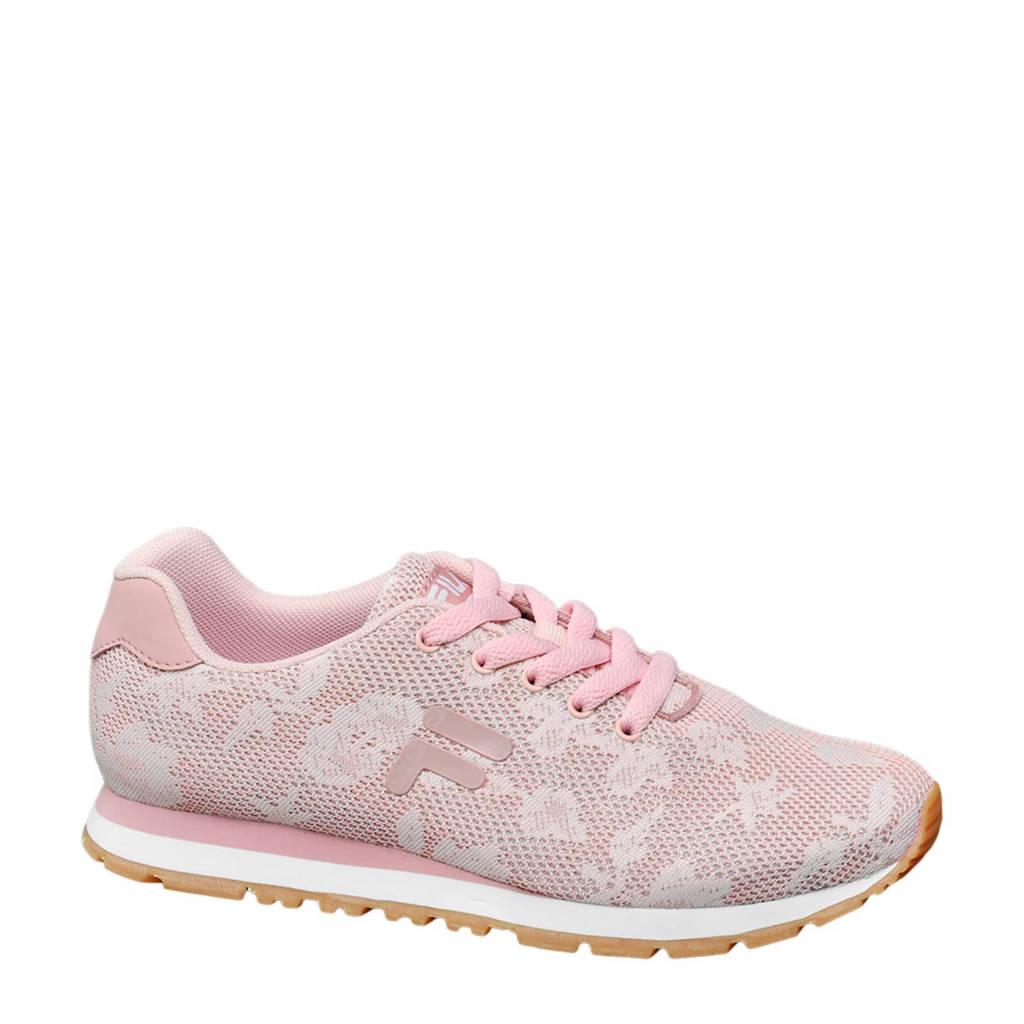 66e70d300c4 Fila sneakers met bloemen, Lichtroze/wit