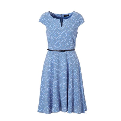 A-lijn jurk met all-over print lichtblauw