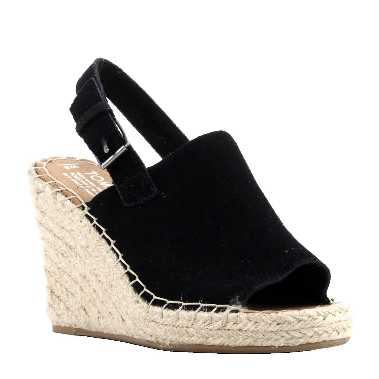 Chaussures Noires De Toms Avec Talon Bloc Avec Boucle Pour Dames Mqck0z9b71