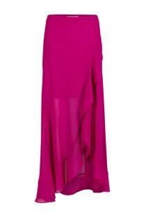 Morgan rok met hoge taille fuchsia