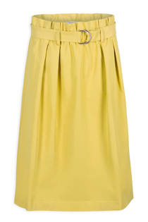 Morgan rok met plooidetails geel (dames)