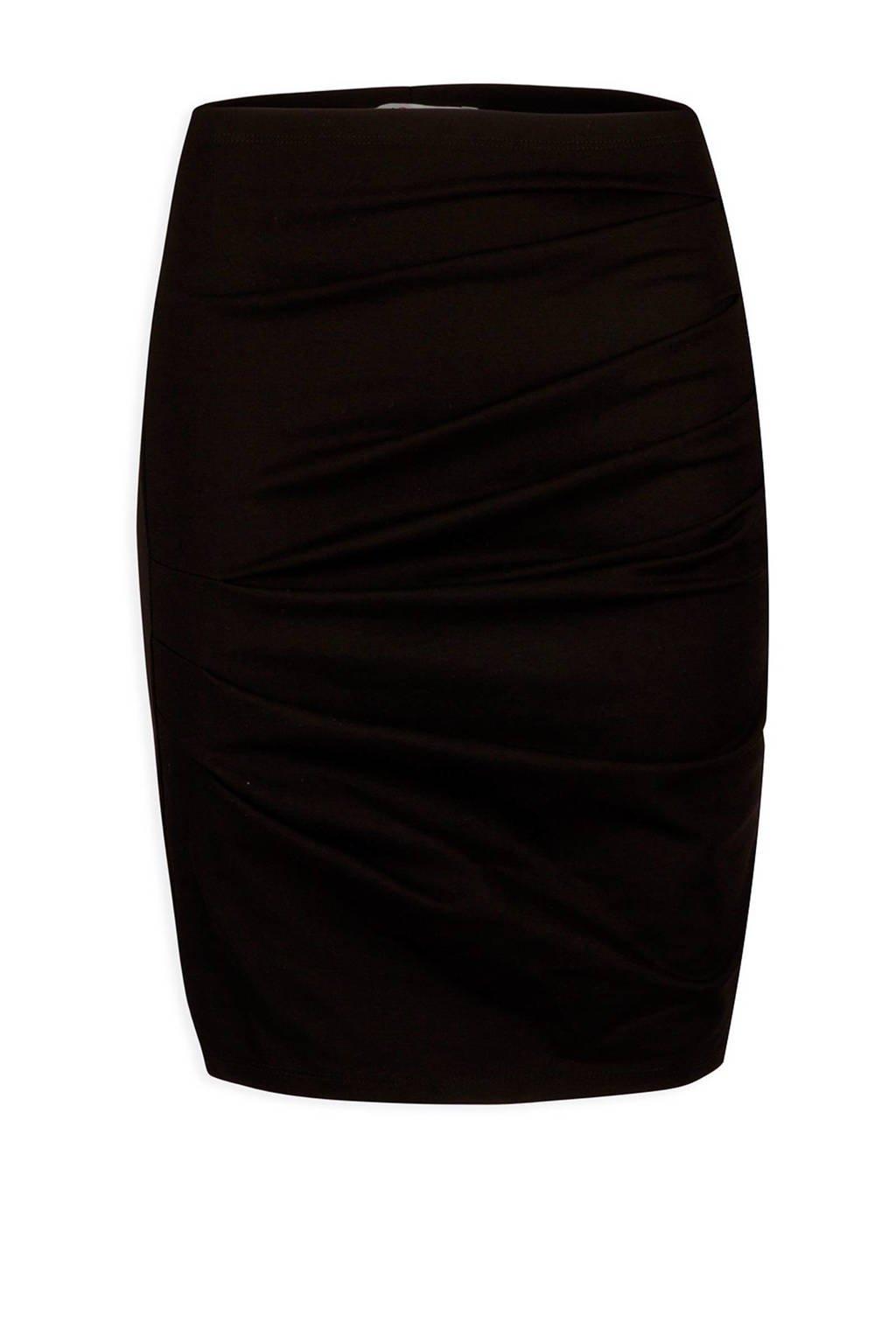 Morgan rok met plooien zwart, Zwart