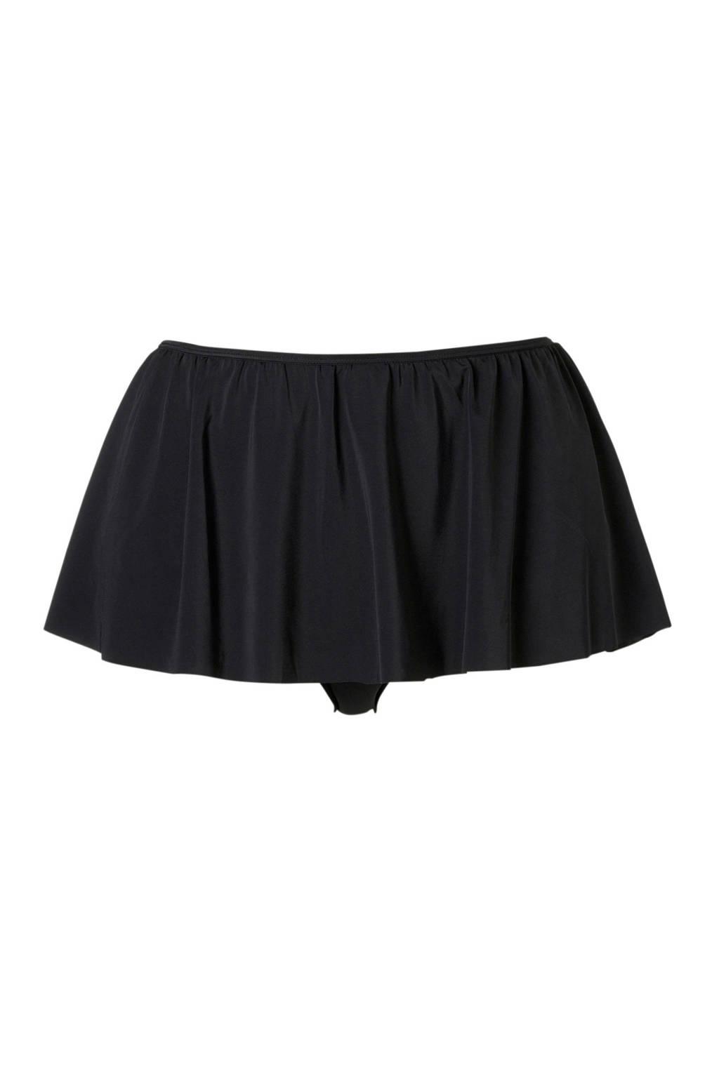 Zizzi corrigerende bikinibroekje +size zwart, Zwart