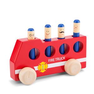 houten pop-up brandweerauto
