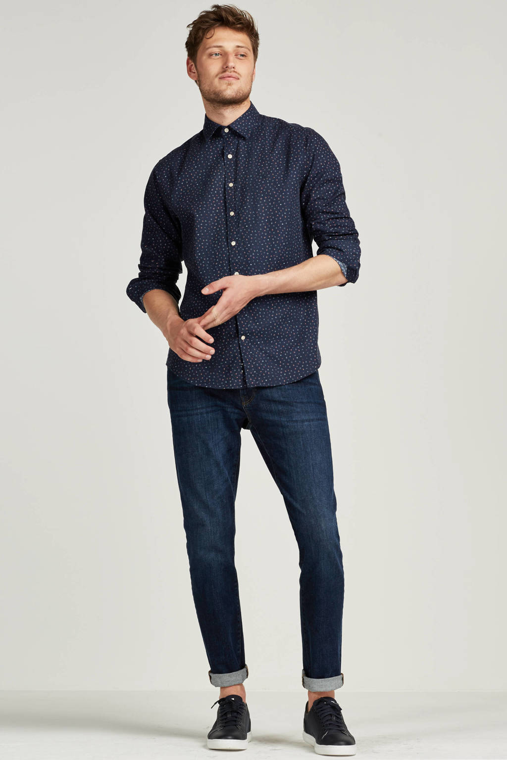 GANT  slim slim straight jeans, 961 Dark blue worn