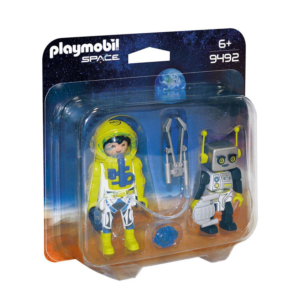 Playmobil Space duopack astronaut en robot 9492