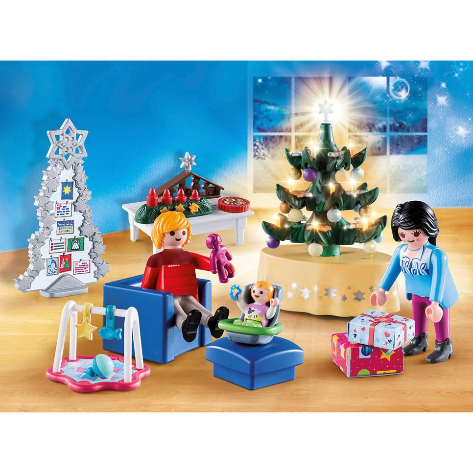 Playmobil Christmas woonkamer in kerststijl 9495 | wehkamp