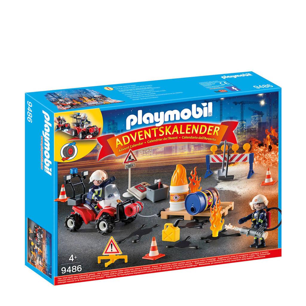 Playmobil Christmas adventskalender interventie op de bouwwerf 9486