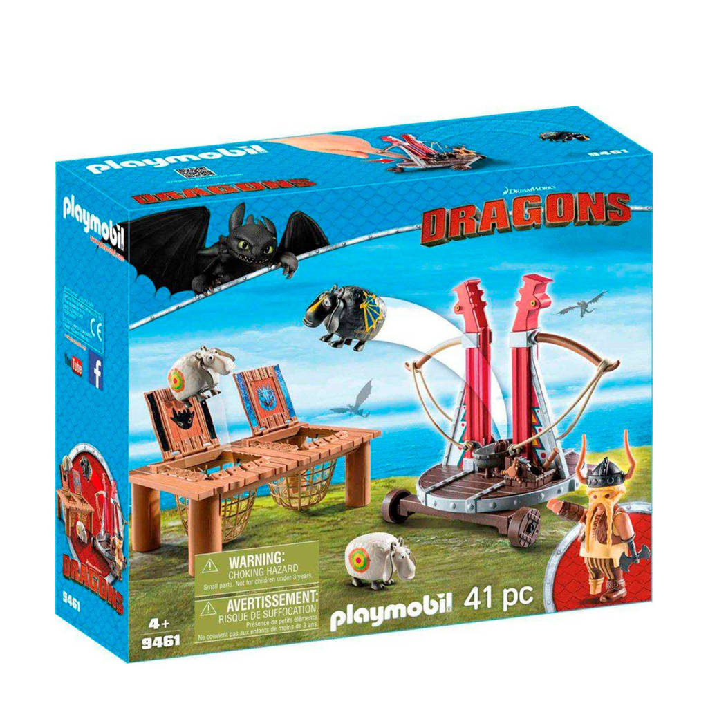 Playmobil Dragons Rochel Met Schapenslingeraar 9461